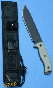 Ontario Rat 7 plain Survivalmesser mit Klinge aus 1095