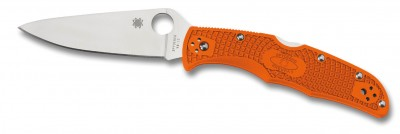 Spyderco Endura C10 Orange glatte Klinge