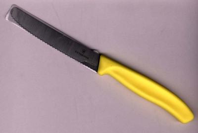 Victorinox Tomaten-, Wurst-, Brötchen-, Tafelmesser gelb 6.7836.L118