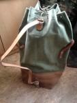 Schweizer Armee Tragesack Seesack Packsack mit Lederboden