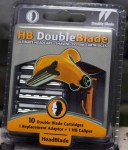 10 Head Blade Double Blade Cartridges + 1 Caliper