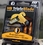 4 Head Blade Triple Blade Cartridges + 1 Caliper