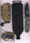 ESEE Knives ESEE 3PM-MB grauer Micartagriff Scheide Coyote Molleback